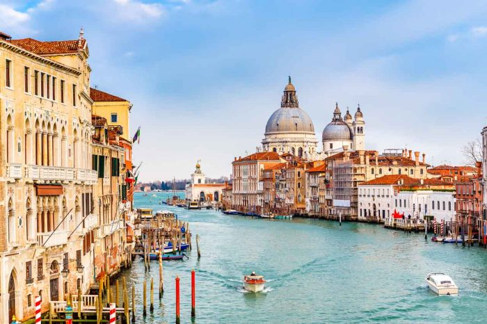 VENICE The Canal Grande on a water taxi – Private City Tour